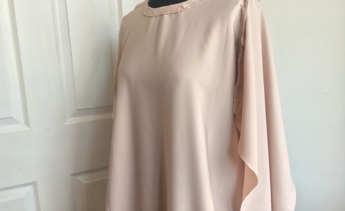 The Nude Pink Pearl 'Abaya Dress