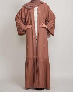 Fahima Inspiration Dustry Peach Abaya