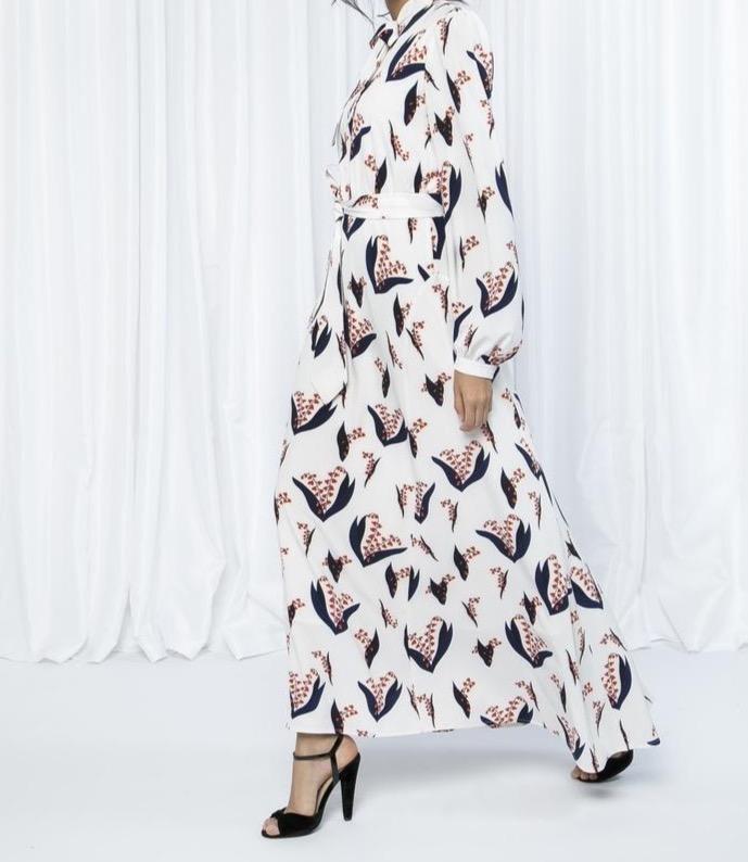 Fahima Inspiration Patterned Abaya long