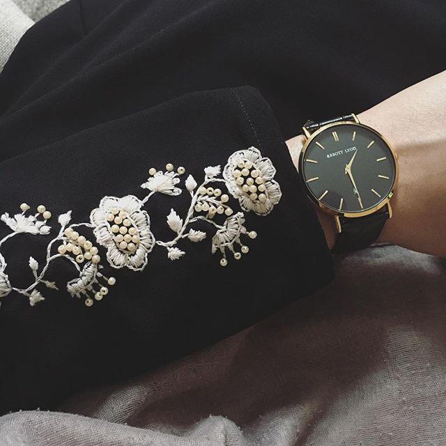 Fahima Miah Embroidered Sleeve Abaya