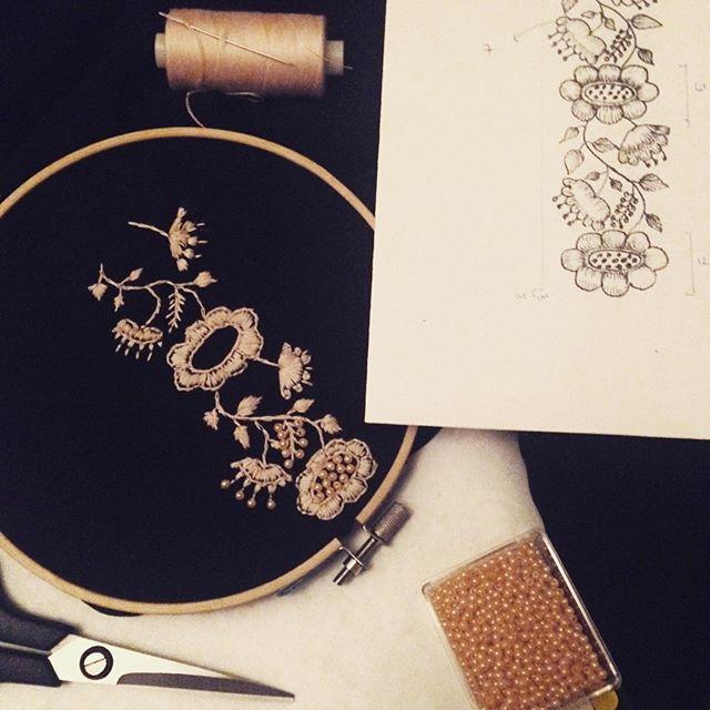 Fahima Miah Embroidered Sleeve Process