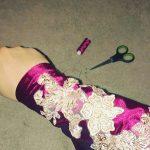 Fahima Miah Red Velvet Abaya Arm
