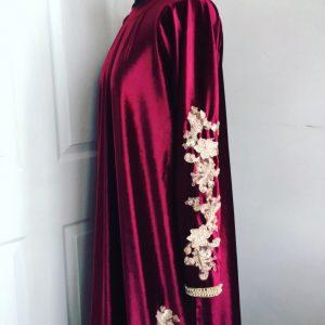 Fahima Miah Red Velvet Abaya 5